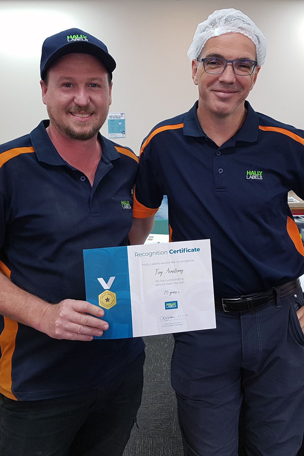 Hally Labels Staff Service Recognition Troy